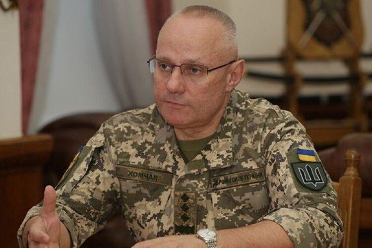 Головнокомандувач ЗСУ Хомчак запевняє, що українські воїни готові дати відсіч окупантам