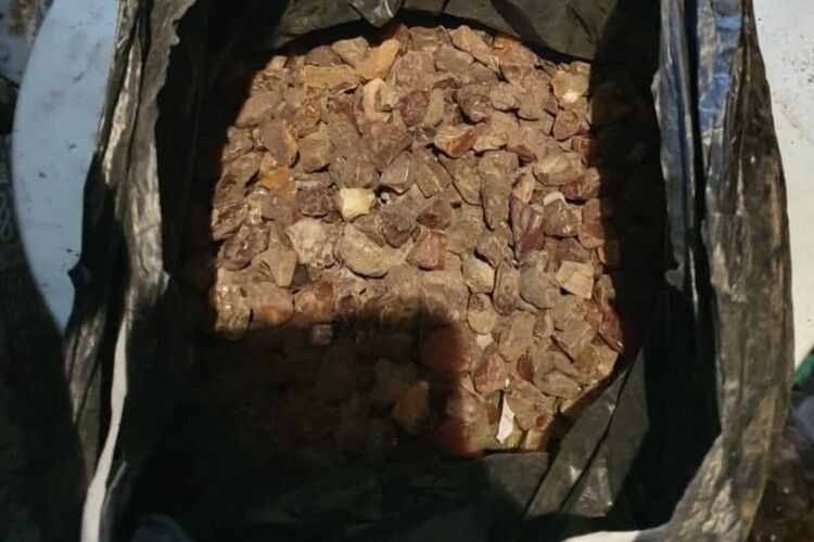 Волинянин незаконно зберігав удома пакет бурштину