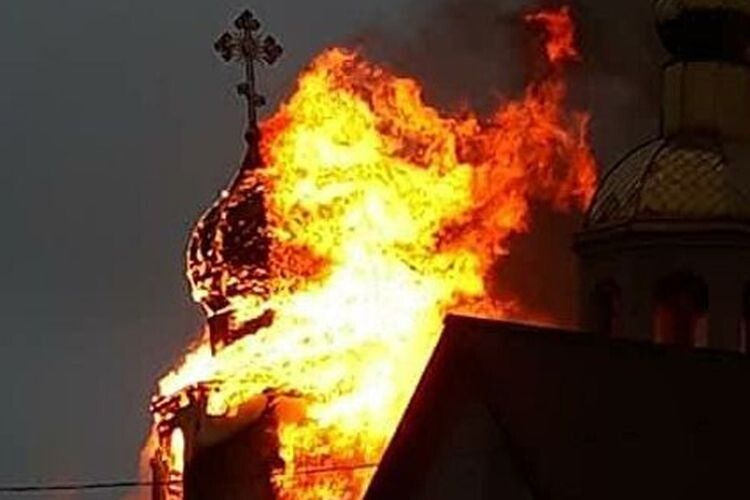 Навіщо російські терористи палили храми Московського патріархату