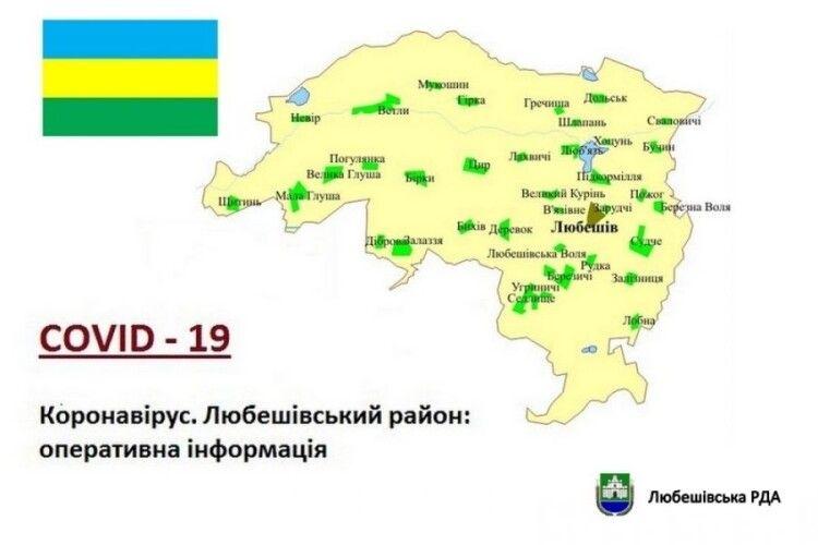 Скільки хворих на коронавірус на Любешівщині: в яких селах найбільше інфікованих