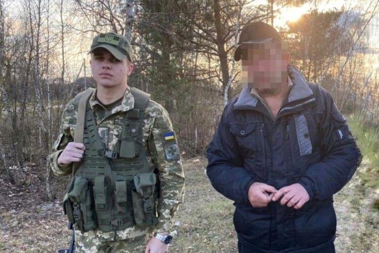Луцькі прикордонники затримали грузина, який намагався незаконно потрапити до Білорусі