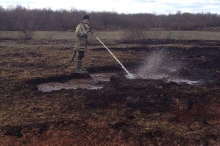3 підрозділи місцевої пожежної охорони гасили пожежу на Любешівщині (Фото)