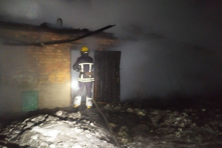 На Горохівщині сталася пожежа (Фото)