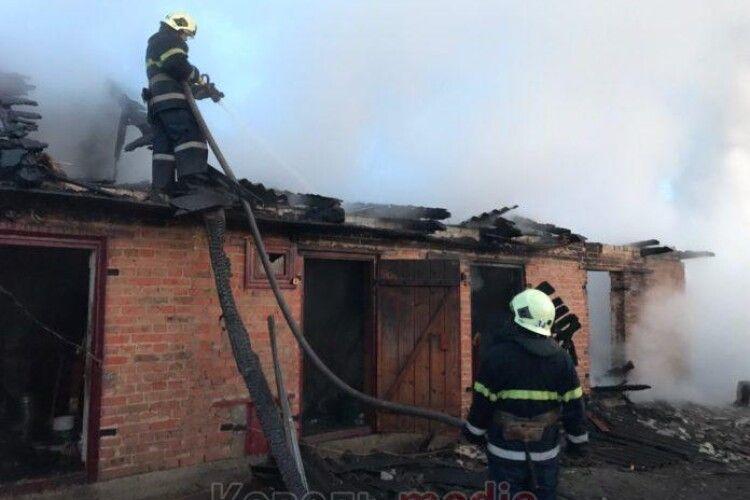 Під час пожежі у Ковелі загинув чоловік
