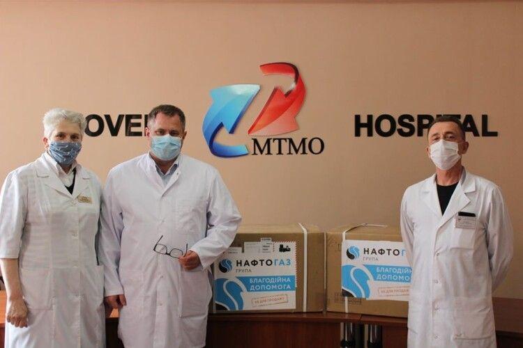 У Ковельську лікарню приїхало медичне обладнання від «Нафтогазу»