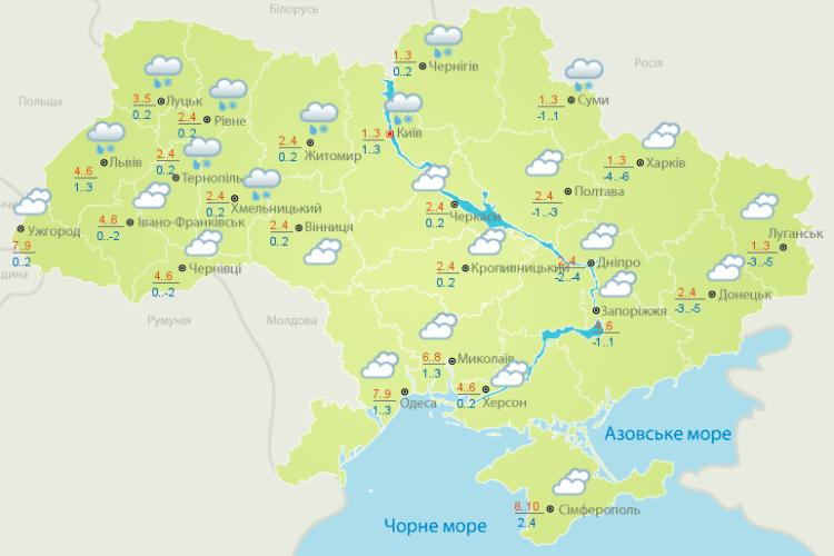 Погода: не мете, значить – і Масляна неділя буде без заметілі (Карти гідрометеоцентру)