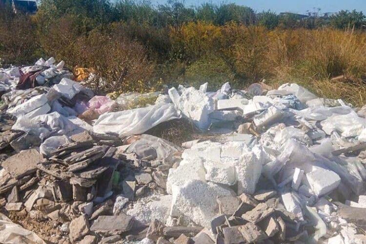 У Луцькому районі виявили стихійне сміттєзвалище: на сільську раду чекає перевірка (фото)