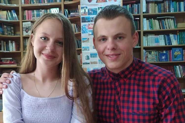 Олена й Андрій Костюки зволинського ліцею здобули наЗНО три двохсотки надвох