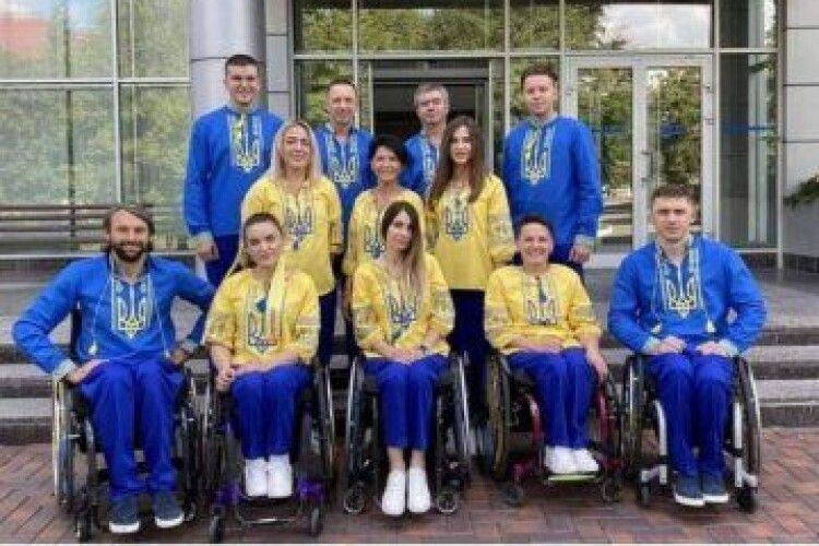 Українські паралімпійці – в костюмах з волинських тканин