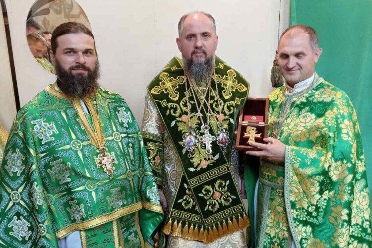 Епіфаній подарував настоятелю храму з Волині іменний хрест