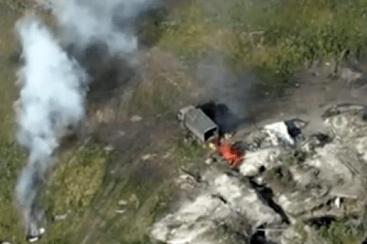 Бійці93-ї омбр «Холодний Яр» знищили вантажівку окупантів із боєприпасами (Відео)