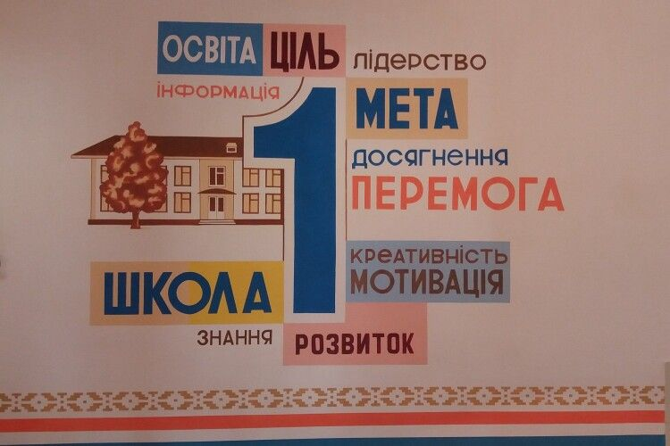 У Ківерцях під час карантину на стінах школи зробили дизайнерський розпис (Фото)