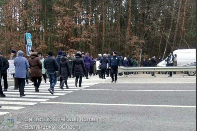 На Волині мітингувальники перекрили дорогу міжнародного значення