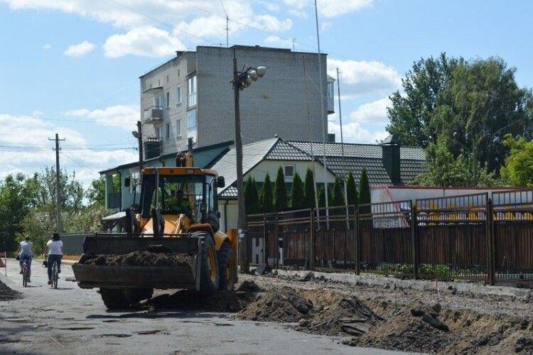 У Ковелі розпочали капітальний ремонт вулиці Вітовського