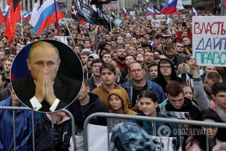 Рейтинг Путіна обвалився, в Росії прогнозують протести