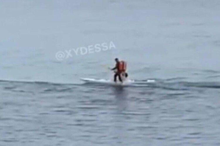 «Шах і мат, атеїсти!»: український кур'єр пробігся... по морю (Відео)