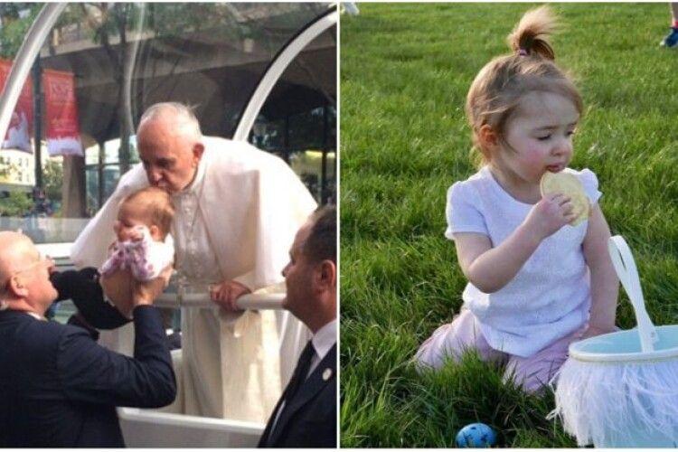 Вустами Папи дитину поцілував Бог…