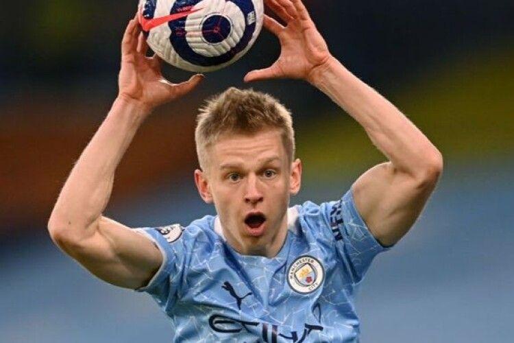 Зінченко став найкращим захисником Манчестер Сіті в матчі проти ПСЖ