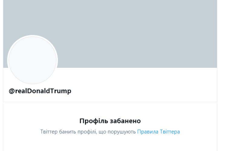 Twitter назавжди заблокував Трампа