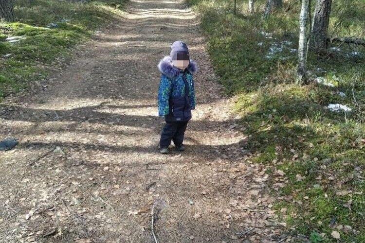 Дворічний хлопчик дременув з дому й зайшов у ліс на 2 км (Фото, відео)