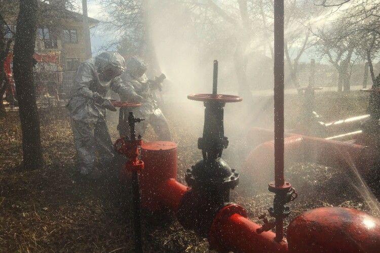 У Луцьку рятувальники «гасили» газорозподільну станцію «Волиньгазу»