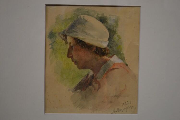 У задумі. Портрет доньки Олени. 1923.