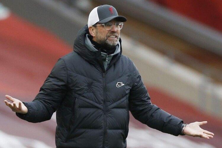 Чинний чемпіон Англії «Ліверпуль» зазнав шостої поспіль поразки на домашньому стадіоні