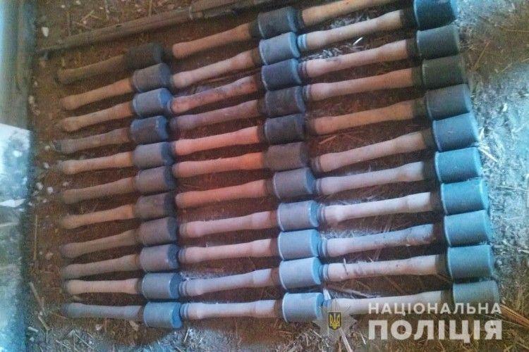 У Луцьку виявили схованку боєприпасів