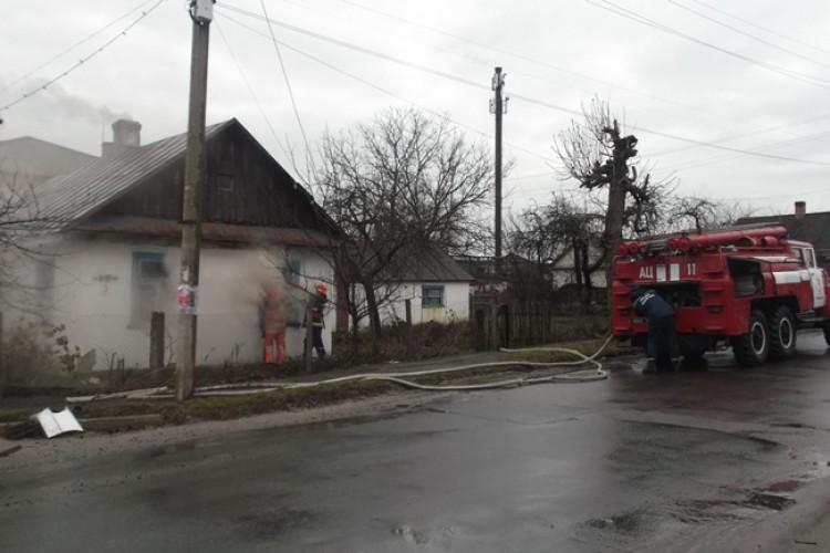 Житловий будинок горів на Рівненщині (Фото)
