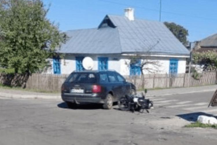Мотоцикліст потрапив в аварію на «проклятому» перехресті на Рівненщині
