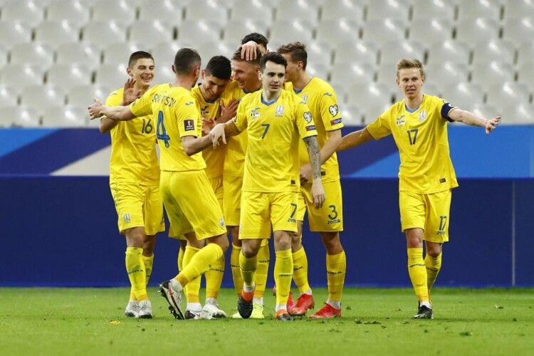 Збірна України зберегла 24-ту сходинку в оновленому рейтингу ФІФА