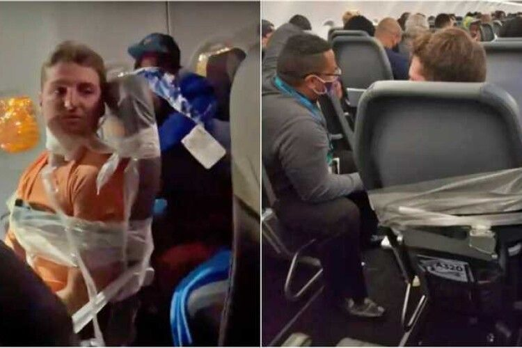 У США знавіснілого пасажира літака довелося примотати скотчем до сидіння