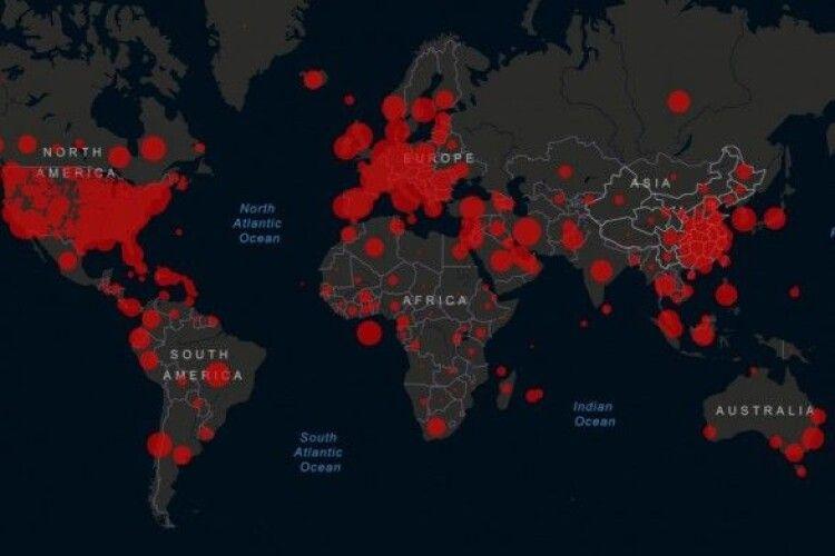 Загальна кількість інфікованих коронавірусом у світі досягла майже 2,5 млн осіб