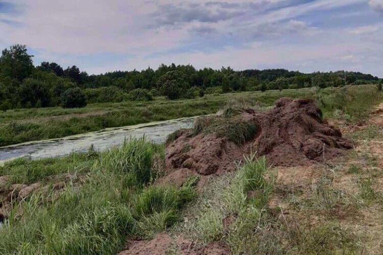 Оштрафували волинянина, який самовільно зайняв і засіяв земельну ділянку біля річки