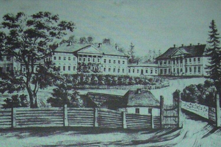 У селі Володимир-Волинського району знаходився один із найбільших палаців на Волині