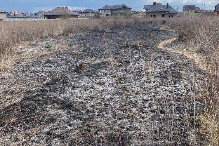 У Рованцях через підпал трави горіла територія біля будинків (Фото)