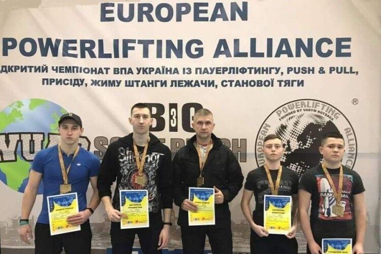 На Відкритому чемпіонаті ВПА Україна п'ятеро турійських спортсменів завоювали три золота і два срібла