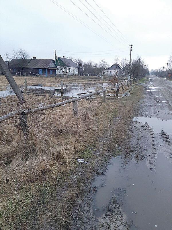 Ось такі в селі березневі пейзажі: до хат вода поки що не дійшла.