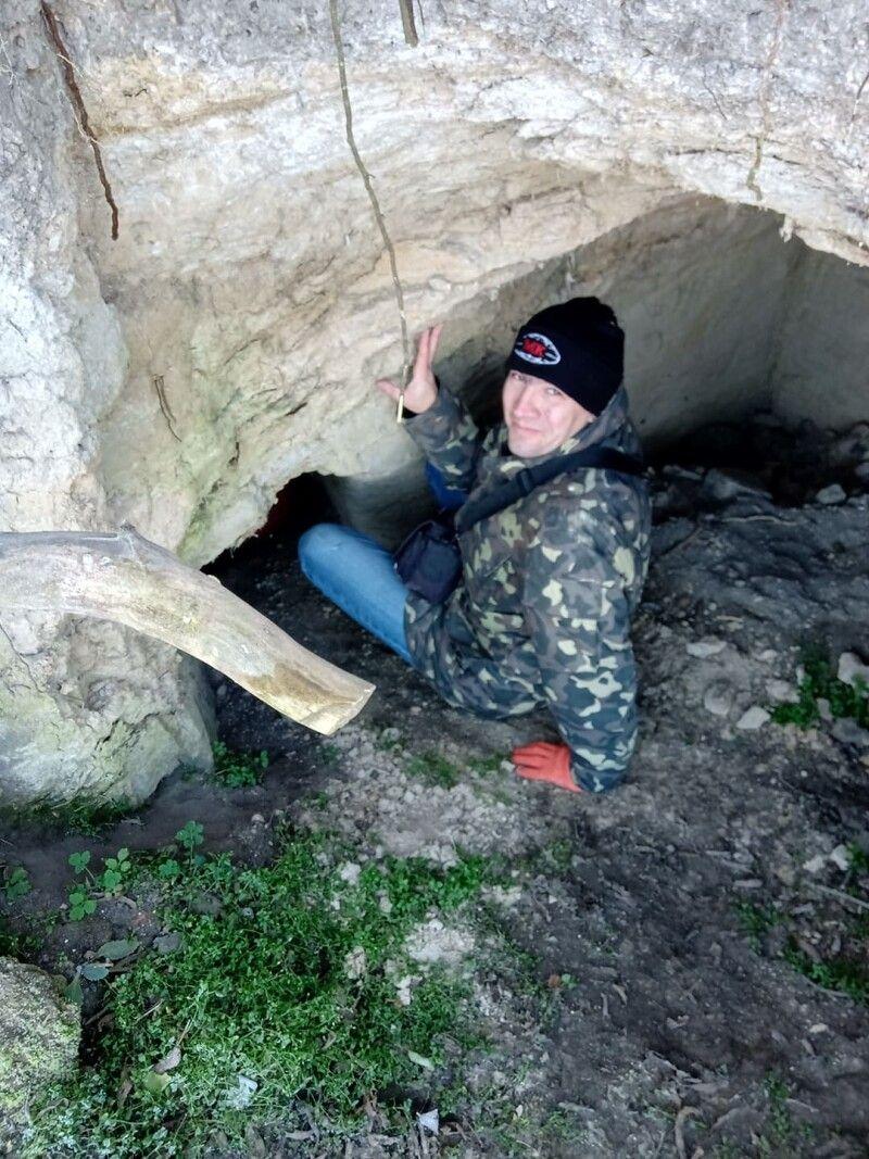 В одній із підземних «кімнаток» ми побачили кажана.