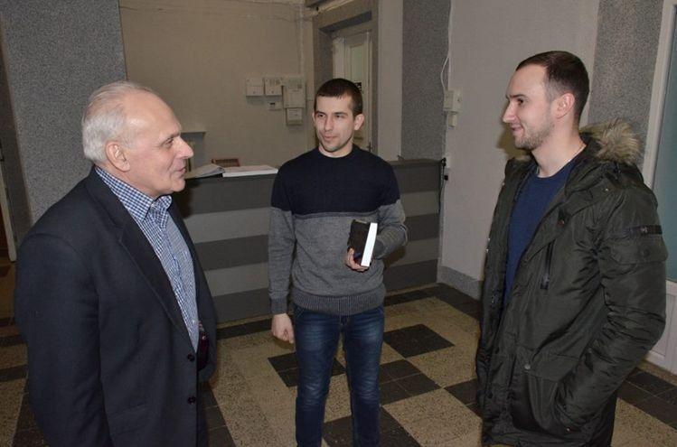 Анатолій Силюк, Богдан Зек та Василь Тарасюк під час зустрічі.
