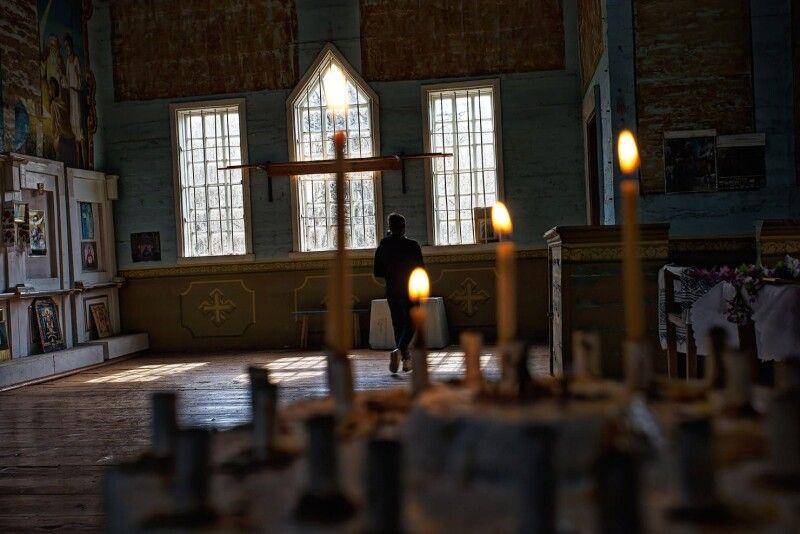 Церковні служби в зоні проводять кілька разів на рік на великі свята