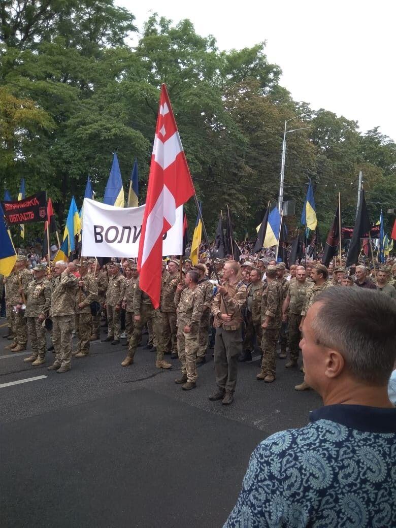 Волиняни у Києві сформували свою колону.