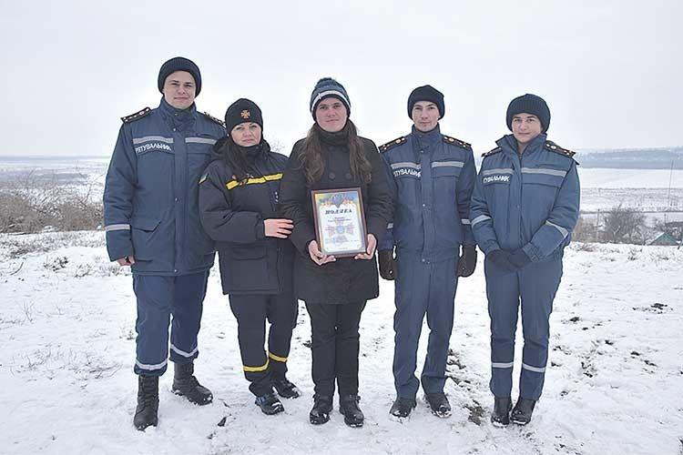 В управлінні ДСНС Миколаївщини вчинок самовідданої жінки  відзначили грамотою.