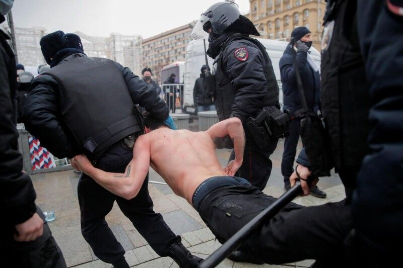 Затримання в Москві.