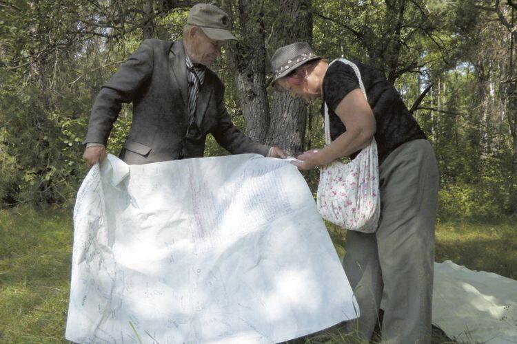 Ось та карта, яку чоловік склав, щоб для дітей, онуків зберегти пам'ять про Коноплища.