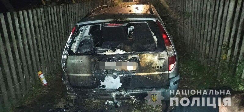 У результаті конфлікту згоріла машина.