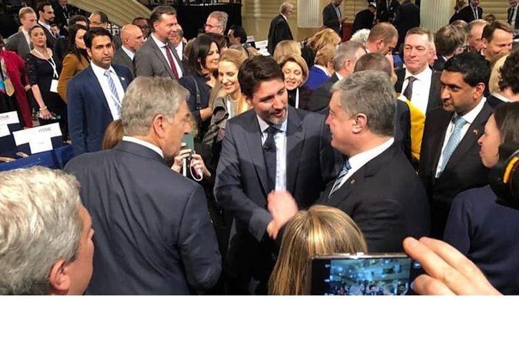 Із Джастіном Трюдо – прем'єр-міністром Канади, яка залишається одним  із найбільш надійних союзників України.