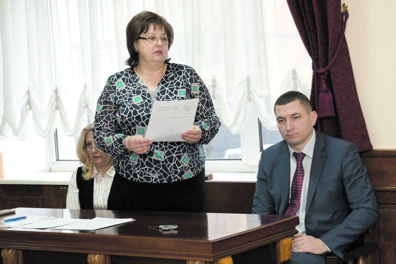 Результати підрахунку голосів озвучила   голова лічильної комісії Оксана Здрилюк.