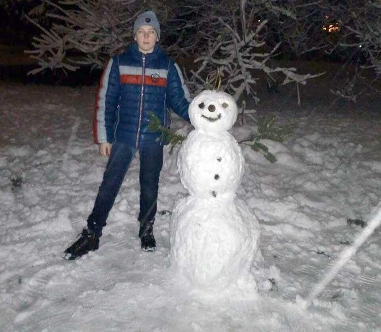 Автор сніговика — Арсен Дудик із Луцька.