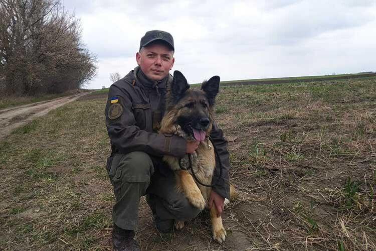 Розшукати зниклого допоміг службовий собака Ніка з гвардійським кінологом Денисом Тимченком.
